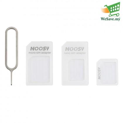4 In 1 Noosy Micro, Nano SIM Card Adapter White Colour (Original)