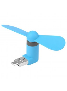 Portable Mini USB Fan For Android Smartphone / Device Blue Colour (Original)