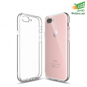 Apple iPhone 7 Plus Clear Transparent Crystal TPU Silicone Case Cover (3 HOLES) (Original)