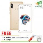 (FREE Selfie Pod & iRing) (DISPLAY) Xiaomi Redmi Note 5 Smartphone 3GB RAM 32GB Gold Colour (Original) 1 Year Warranty By Mi Malaysia