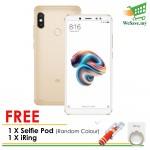 (FREE Selfie Pod & iRing) (DISPLAY) Xiaomi Redmi Note 5 Smartphone 3GB RAM 32GB Gold Colour (Original) 1 Year Warranty By Mi Malaysia