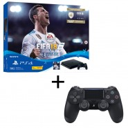 Sony CUH-2106AB01 PS4 Slim 500 GB  Console FIFA18 Bundle Jet Black with EXTRA DS4 Controller  -1 Years Warranty by Sony Malaysia