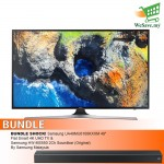 "BUNDLE SHOCK! Samsung UA49MU6100KXXM 49"" Flat Smart 4K UHD TV + Samsung HW-MS550 2Ch Soundbar (Original) By Samsung Malaysia"