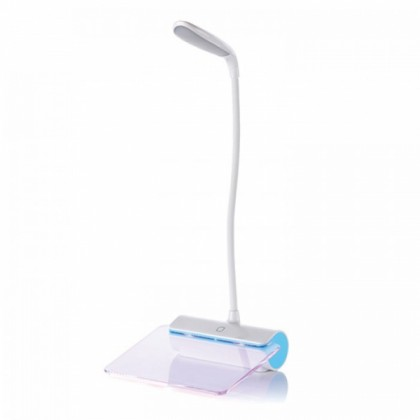 LED Table Lamp with Message Plate Blue