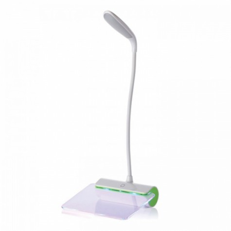 LED Table Lamp with Message Plate Green