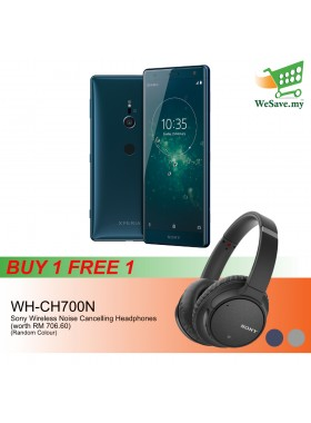 (BUY 1 FREE 1) Sony Xperia XZ2 Smartphone 4GB RAM 64GB Deep Green Colour FREE Sony WH-CH700N Wireless Noise Cancelling Headphones (Original) 1 Year Warranty By Sony Malaysia