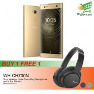 (BUY 1 FREE 1) Sony Xperia XA2 Ultra Smartphone 4GB RAM 64GB Gold Colour FREE Sony WH-CH700N Wireless Noise Cancelling Headphones (Original) 1 Year Warranty By Sony Malaysia
