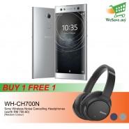 (BUY 1 FREE 1) Sony Xperia XA2 Ultra Smartphone 4GB RAM 64GB Silver Colour FREE Sony WH-CH700N Wireless Noise Cancelling Headphones (Original) 1 Year Warranty By Sony Malaysia