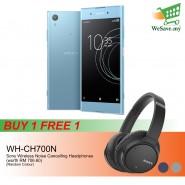 (BUY 1 FREE 1) (DISPLAY) Sony Xperia XA1 Plus Smartphone 4GB RAM 32GB Blue Colour FREE Sony WH-CH700N Wireless Noise Cancelling Headphones (Original) 1 Year Warranty By Sony Malaysia