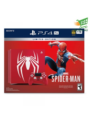 Sony PS4 Pro Marvel's Spider-Man Bundle Limited Edition Console - PlayStation 4 Pro 1TB (Original) 1 Years Warranty By Sony Malaysia