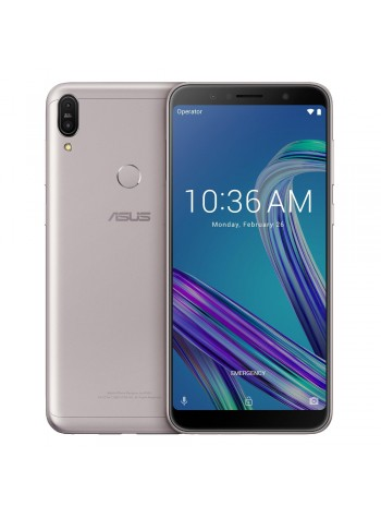 (FREE Accessories) (DISPLAY) Asus Zenfone Max Pro (M1) Smartphone ZB602KL 4GB RAM 64GB Meteor Silver Colour (Original) 1 Year Warranty By Asus Malaysia