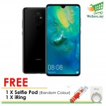 (FREE Selfie Pod & iRing) Huawei Mate 20 Smartphone 6GB RAM 128GB Black Colour (Original) 1 Year Warranty By Huawei Malaysia