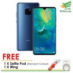 (FREE Selfie Pod & iRing) Huawei Mate 20 Smartphone 6GB RAM 128GB Midnight Blue Colour (Original) 1 Year Warranty By Huawei Malaysia
