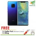 (FREE Selfie Pod + iRing) Huawei Mate 20 Pro Smartphone 6GB RAM 128GB Twilight Colour (Original) 1 Year Warranty By Huawei Malaysia