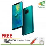 (FREE Selfie Pod + iRing) Huawei Mate 20 Pro Smartphone 6GB RAM 128GB Emerald Green Colour (Original) 1 Year Warranty By Huawei Malaysia