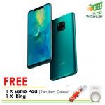 (FREE Selfie Pod + iRing) Huawei Mate 20 Pro Smartphone 6GB RAM 128GB Emerald Green Colour (Original) 1 Year Warranty By Huawei Malaysia
