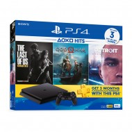 Sony PlayStation 4 HITS BUNDLE PS4 CUH-2106AB01 Console Jet Black 1 Years Warranty by Sony Malaysia