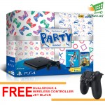 Sony PlayStation 4 PARTY BUNDLE PS4 ASIA00334 Console FOC 1 Extra Controller DS4 Jet Black - 2 Years Warranty by Sony Malaysia