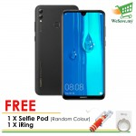 (FREE Selfie Pod & iRing) Huawei Y Max Smartphone 4GB RAM 128GB Midnight Black Colour (Original) 1 Year Warranty By Huawei Malaysia