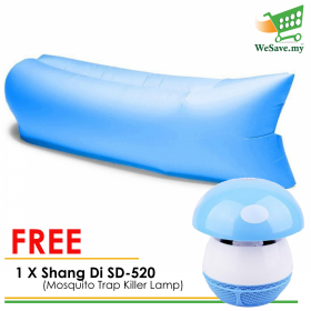 Portable Outdoor Camping Beach Air Bag Sofa Bed Blue FREE Shang Di SD-520 Electronic LED Light Mosquito Trap Killer Lamp