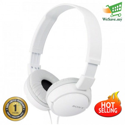 Sony MDR-ZX110 White On-Ear Stereo Headphone MDR-ZX110/W (Original) by Sony Malaysia