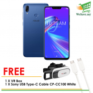 (FREE VR Box + Sony Cable) Asus ZenFone Max (M2) Smartphone ZB633KL 4GB RAM 32GB Blue Colour (Original) 1 Year Warranty By Asus Malaysia