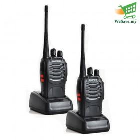 2 Units BAOFENG BF-888S Walkie Talkie Two-Way Radio Transceiver UHF FM 52 Twin Pack (Original)