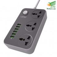 LDNIO SC3604 Power Strip With 6 USB Ports & 3 Anti-Static Power Socket (Original)