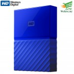 WD My Passport 2TB Hard Drive External Portable HDD/L WDBS4B0020BBL-WESN / Blue (Original) 3 Year Warranty By Western Digital