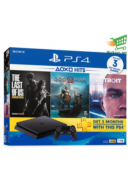 Sony PlayStation 4 HITS BUNDLE PS4 CUH-2218AB01 1TB Console Jet Black 1 Years Warranty by Sony Malaysia