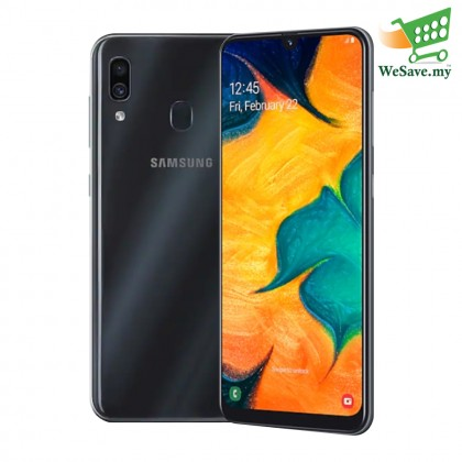 Samsung Galaxy A30 Smartphone 4GB RAM 64GB Black Colour (Original) 1 Year Warranty By Samsung Malaysia