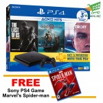 Sony PlayStation 4 HITS BUNDLE PS4 CUH-2218AB01 1TB Console Jet Black FREE Sony PS4 Game Marvel's Spider-Man PlayStation 4 (Original) - R3 1 Years Warranty by Sony Malaysia
