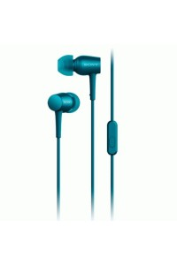 (DISPLAY) Sony MDR-EX750AP/L Hi Res Ear Mobile Phone Headphones with Mic High-Resolution Audio Viridian Blue (ORIGINAL) 1 Year Warranty by Sony Malaysia