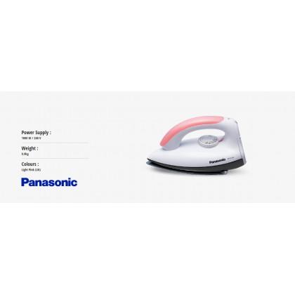 Panasonic NI-317W Polished Dry Iron 0.8kg - Light Pink (Original) 1 Years Warranty By Panasonic Malaysia