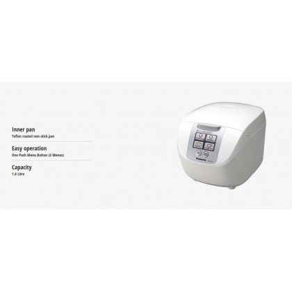 Panasonic SR-DF181PSK Jar Rice Cooker (Microcomputer) 1.8L (Original)1 Years Warranty By Panasonic Malaysia
