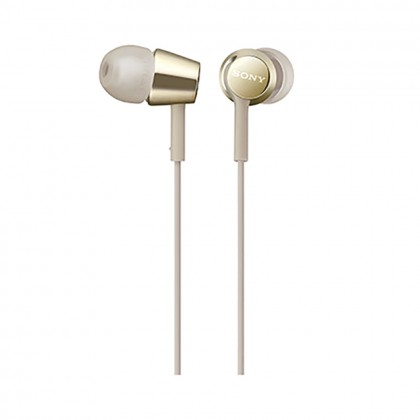 *Display Unit* Sony MDR-EX155AP Gold In-Ear Headphones with Mic MDR-EX155AP/N (Original) from Sony Malaysia