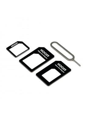 4 In 1 Noosy Micro, Nano SIM Card Adapter Black Colour (Original)