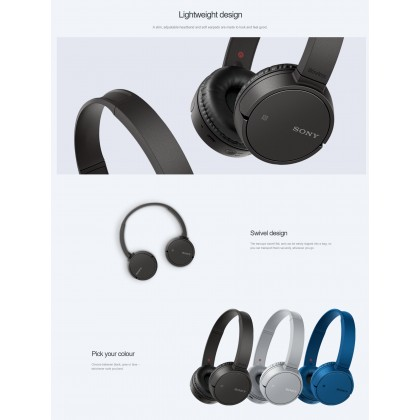 *Display Unit* Sony WH-CH500 Blue Wireless Headphones WH-CH500/L (Original) from Sony Malaysia