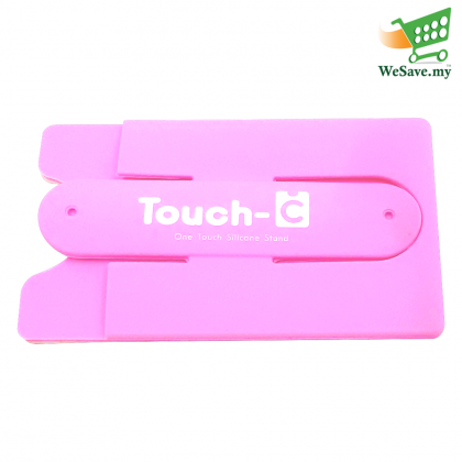 Universal Touch-C Smartphone Silicone Stand / Card Holder Pink Colour