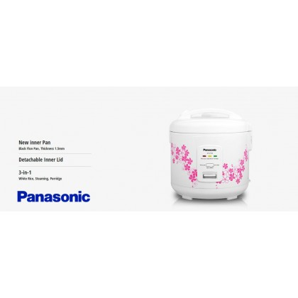 Panasonic SR-JP185 Mechanical Jar Rice Cooker 1.8L - White (Original) 1 Years Warranty By Panasonic Malaysia