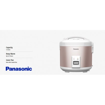 Panasonic SR-RN188 Mechanical Rice Cooker 1.8L - Pink (Original) 1 Years Warranty By Panasonic Malaysia