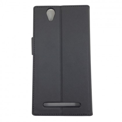 Case-Mate Stand Folio Flip Case for Sony Xperia T2 Ultra Black Colour (Original)