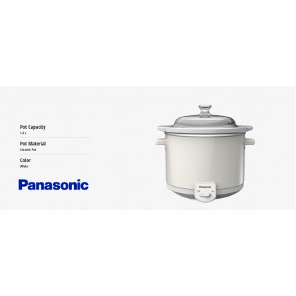 Panasonic NF-N15GC Slow Cooker 1.5L - Ceramic Pot (Original) 1 Years Warranty By Panasonic Malaysia
