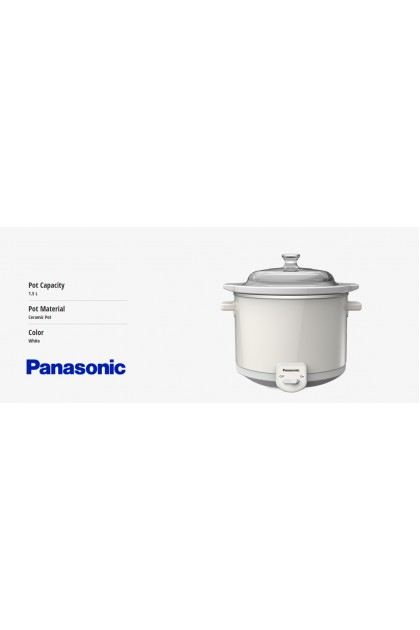 Panasonic NF-N15GC Slow Cooker 1.5L - Ceramic Pot (Original) 1 Years Warranty By Panasonic Malaysia