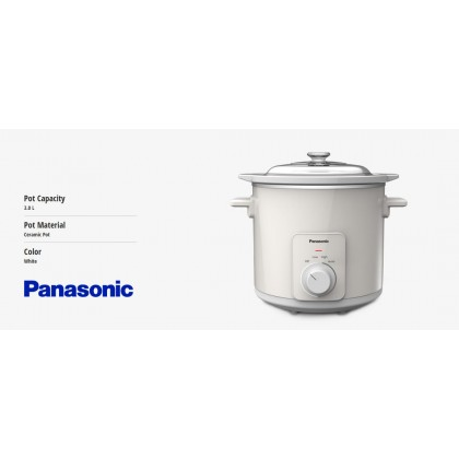 Panasonic NF-N30AGC Slow Cooker 3.0L - Ceramic Pot (Original) 1 Years Warranty By Panasonic Malaysia