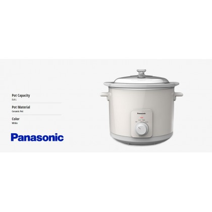 Panasonic NF-N50AGC Slow Cooker 5.0L - Ceramic Pot (Original) 1 Years Warranty By Panasonic Malaysia