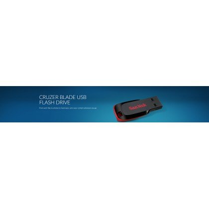 SanDisk Cruzer Blade 16GB USB Flash Drive 2.0 - Electric Pink (Original)