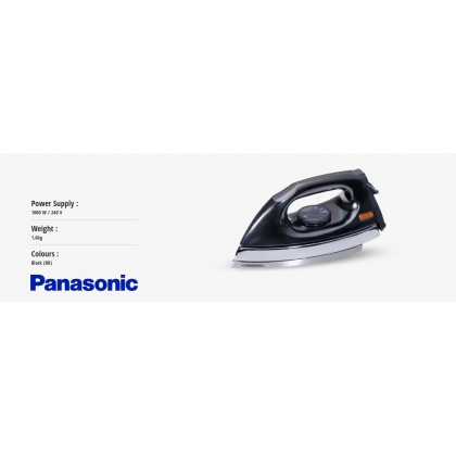 Panasonic NI-415E-BK1 Polished Dry Iron - Black (Original) 1 Years Warranty By Panasonic Malaysia