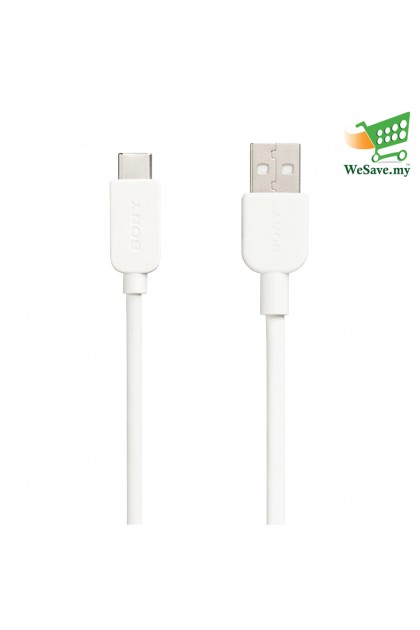 Sony CP-AC100 USB-A to USB-C Charging And Transfer Cable 1.0 Meter White Colour (Original)