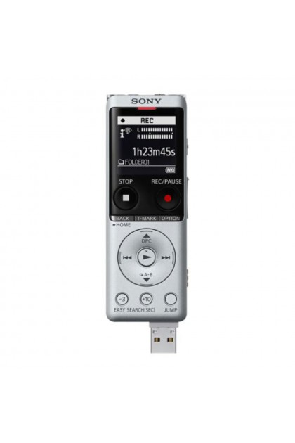 Sony ICD-UX570F Digital Voice Recorder Silver Colour (Original) 1 Year Warranty by Sony Malaysia
